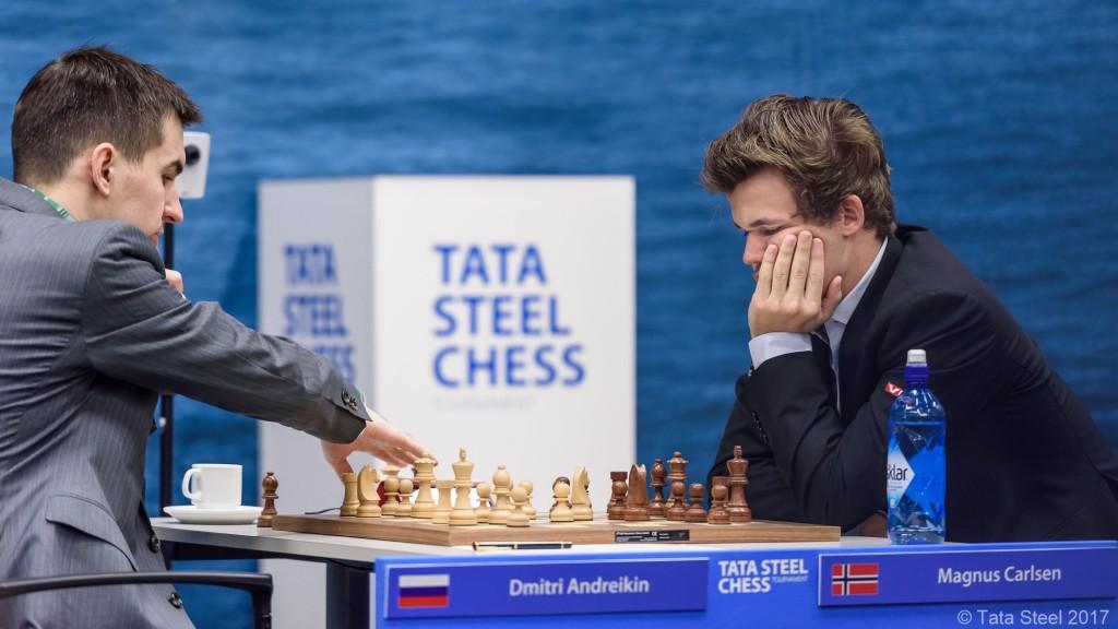 Tata Steel Chess Masters 2017 ronde 3 Dimitri Adreikin Magnus Carlsen