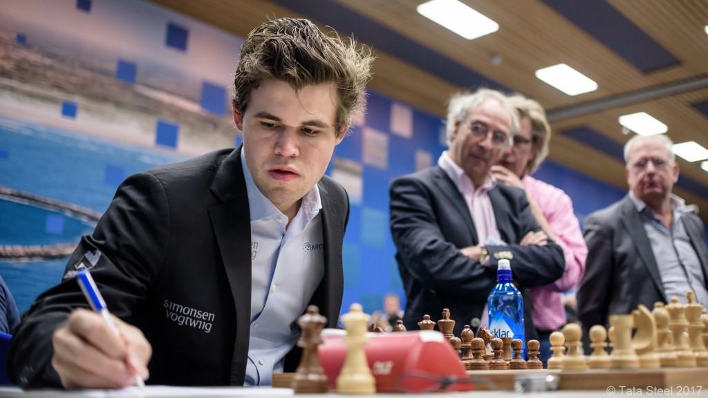 Tata Steel Chess Masters 2017 ronde 3 Magnus Carlsen