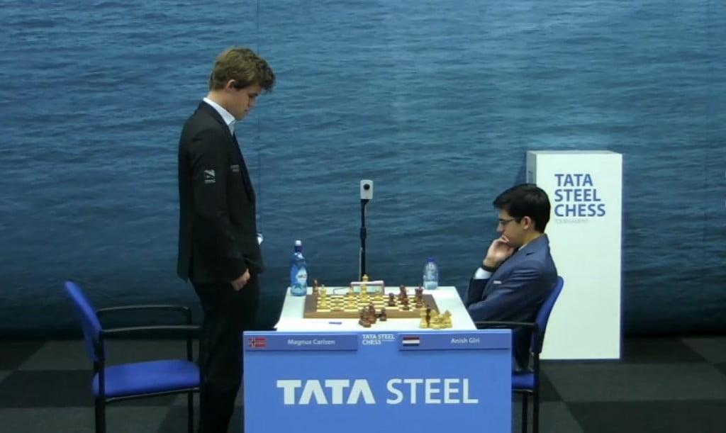 Tata Steel Chess Masters 2017 ronde 7 Magnus Carlsen Anish Giri