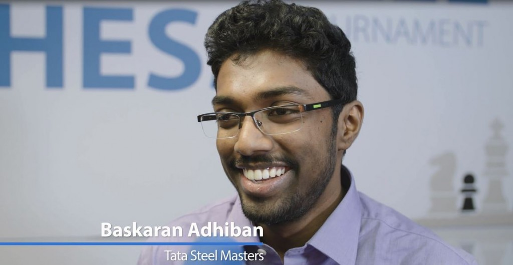 Tata Steel Chess Masters 2017 ronde 8 Baskaran Adhiban-