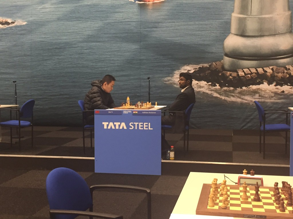 Tata Steel Chess Masters 2017 ronde 9 Wei Yi et Adhiban