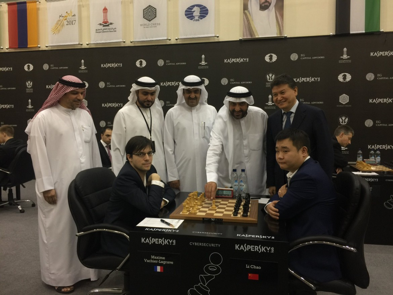 Grand Prix FIDE 2017 Sharjah ronde 1 Maxime Vachier-Lagrave
