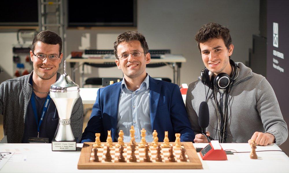 Grenke Chess Classic 2017 Levon Aronian avec la Coupe
