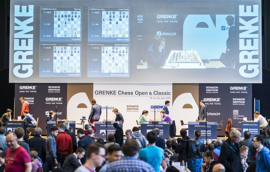 Grenke Chess Classic 2017 Ronde 2 Vue de la scène