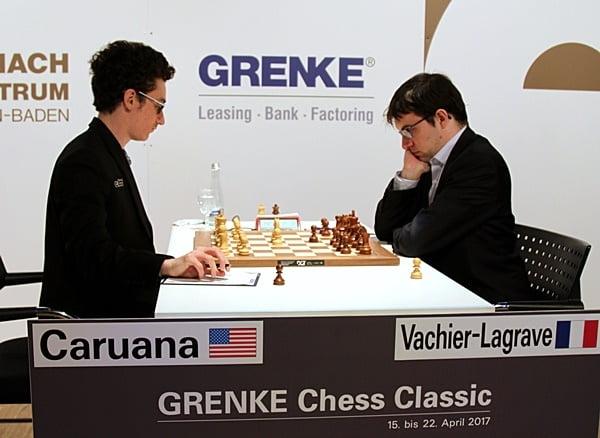 Grenke Chess Classic 2017 Ronde 5 Caruana contre Vachier-Lagrave