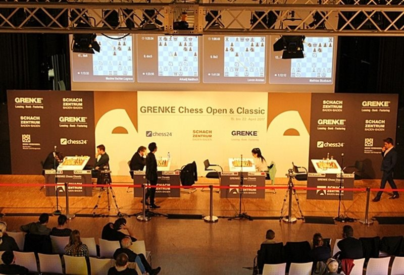 Grenke Chess Classic 2017 ronde 6 Vue des parties
