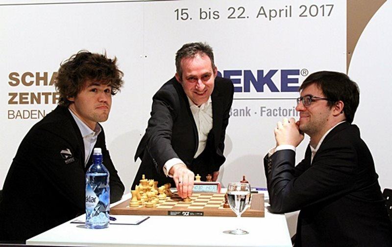 Grenke Chess Classic 2017 ronde 7 Magnus Carlsen et Maxime Vachier-Lagrave