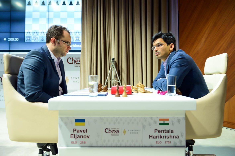 Shamkir Chess 2017 ronde 2 Pavel Eljanov et Pentala Harikrichna