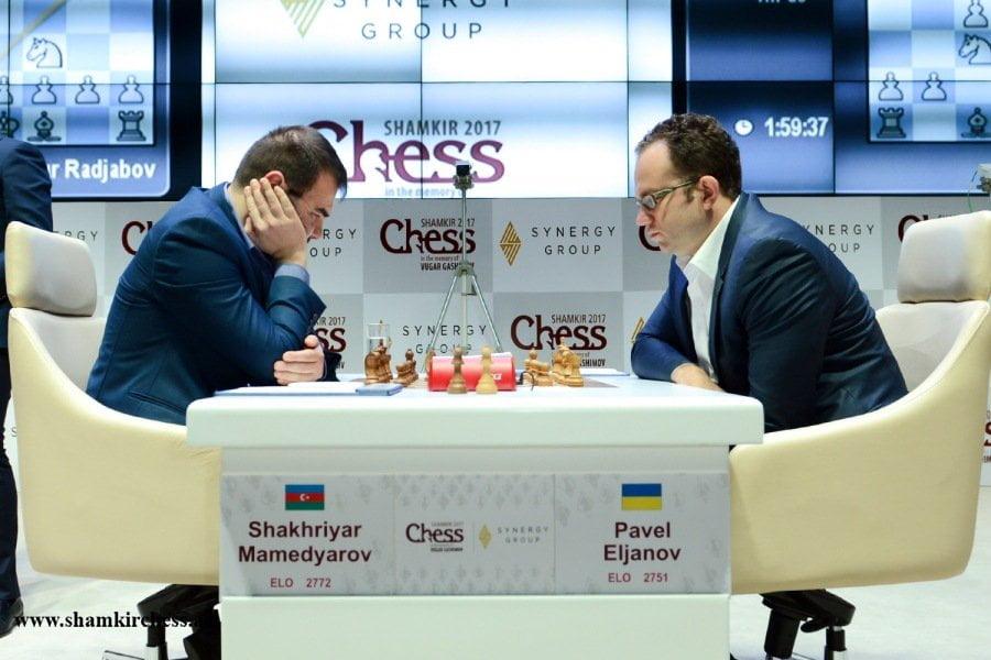 Shamkir Chess 2017 ronde 3 Eljanov et Mamedyarov