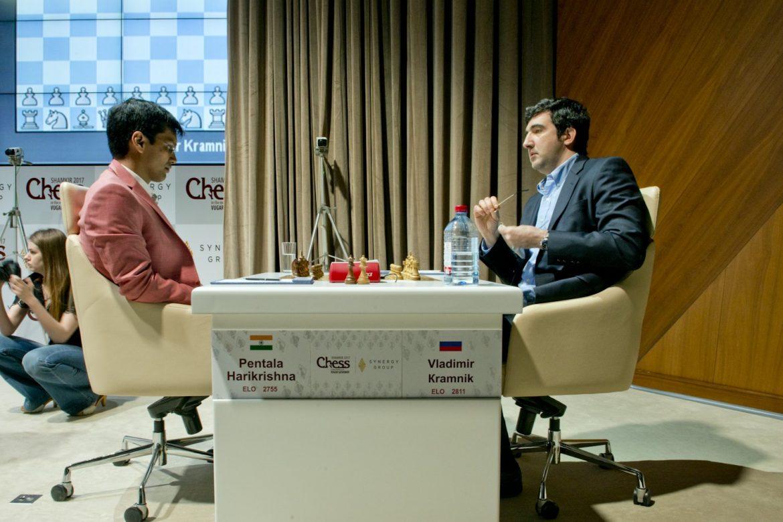 Shamkir Chess 2017 ronde 4 Vladimir Kramnik et Pentala Harikrishna