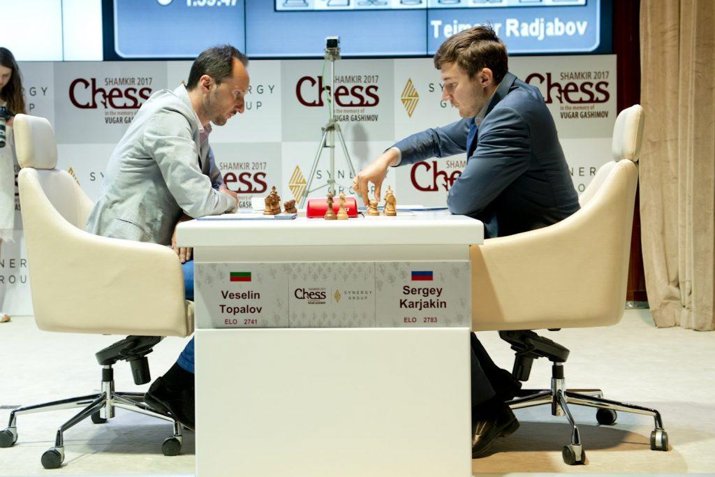 Shamkir Chess 2017 ronde 5 Sergey Karjakin et Veselin Topalov