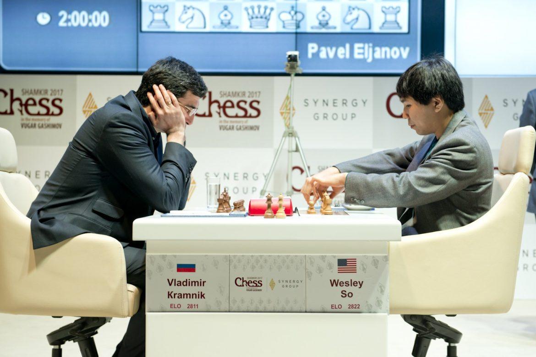 Shamkir Chess 2017 ronde 5 Wesley So et Vladimir Kramnik