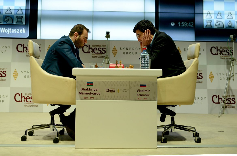 Shamkir Chess 2017 ronde 6 Vladimir Kramnik et Shakhriyar Mamedyarov