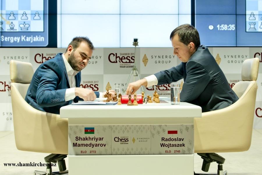 Shamkir Chess 2017 ronde 8 Wojtaszek et Mamedyarov