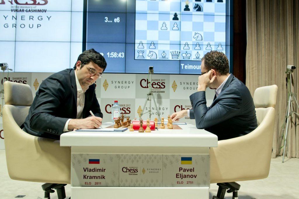 Shamkir Chess 2017 ronde 9 Pavel Eljanov et Vladimir Kramnik