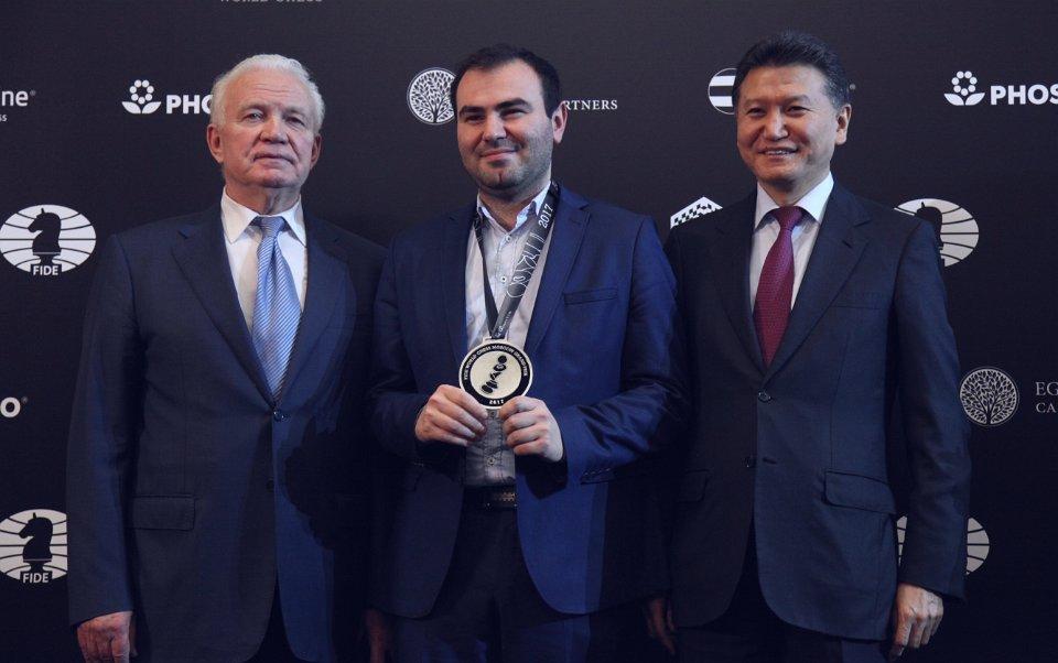 Grand Prix FIDE 2017 Moscou Cérémonie de clôture Mamedyarov