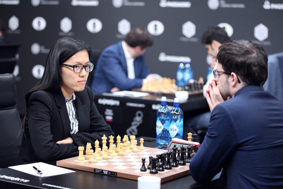 Grand Prix FIDE 2017 Moscou ronde 2 Hou Yifan