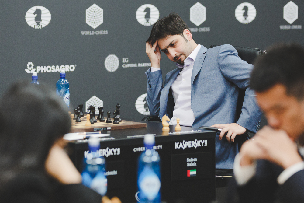 Grand Prix FIDE 2017 Moscou ronde 3 Salem Saleh