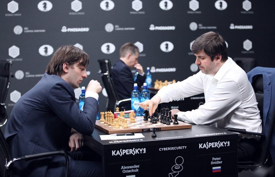 Grand Prix FIDE 2017 Moscou ronde 6 Alexander Grischuk et Peter Svidler