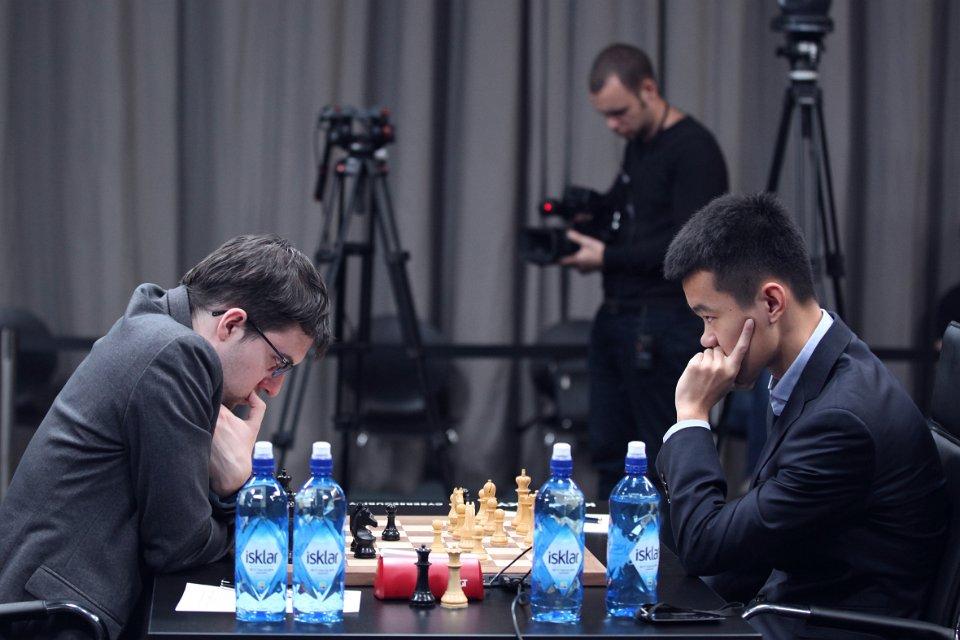 Grand Prix FIDE 2017 Moscou ronde 6 Maxime Vachier-Lagrave et Liren Ding