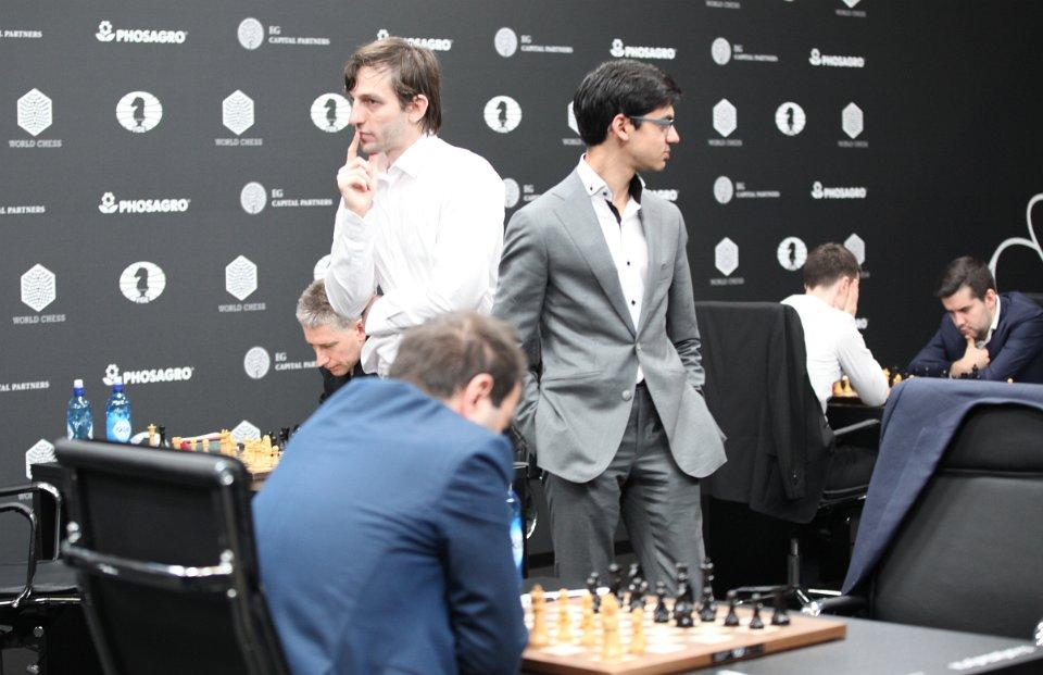 Grand Prix FIDE 2017 Moscou ronde 7 Anish Giri et Alexander Grischuk