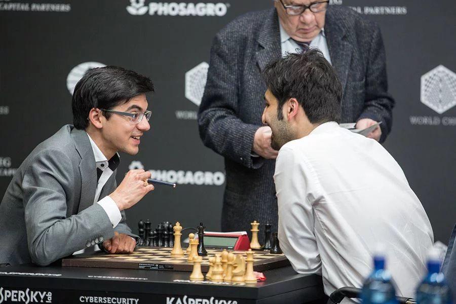 Grand Prix FIDE 2017 Moscou ronde 7 Anish Giri et Saleh Salem