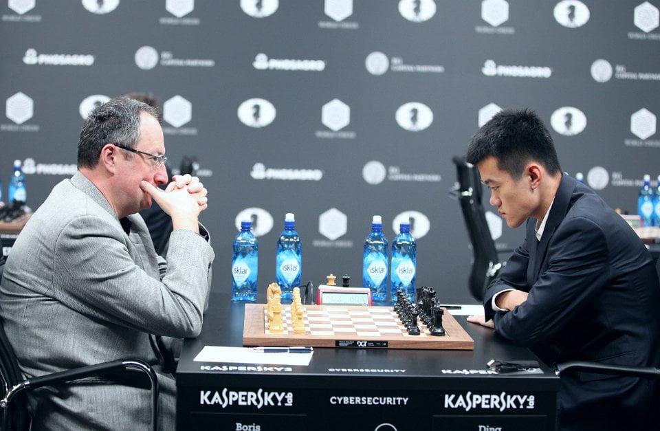 Grand Prix FIDE 2017 Moscou ronde 9 Boris Gelfand et Liren Ding
