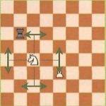 Règles jeu d'échecs : déplacement du Cavalier