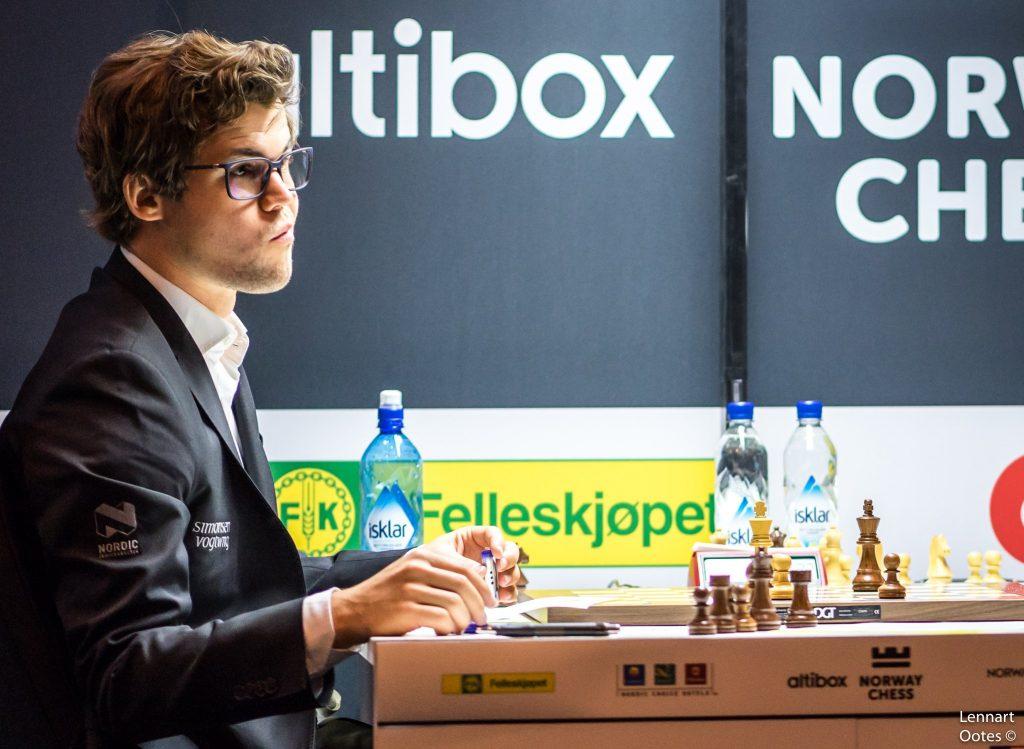 Norway Chess 2017 ronde 1 Magnus Carlsen