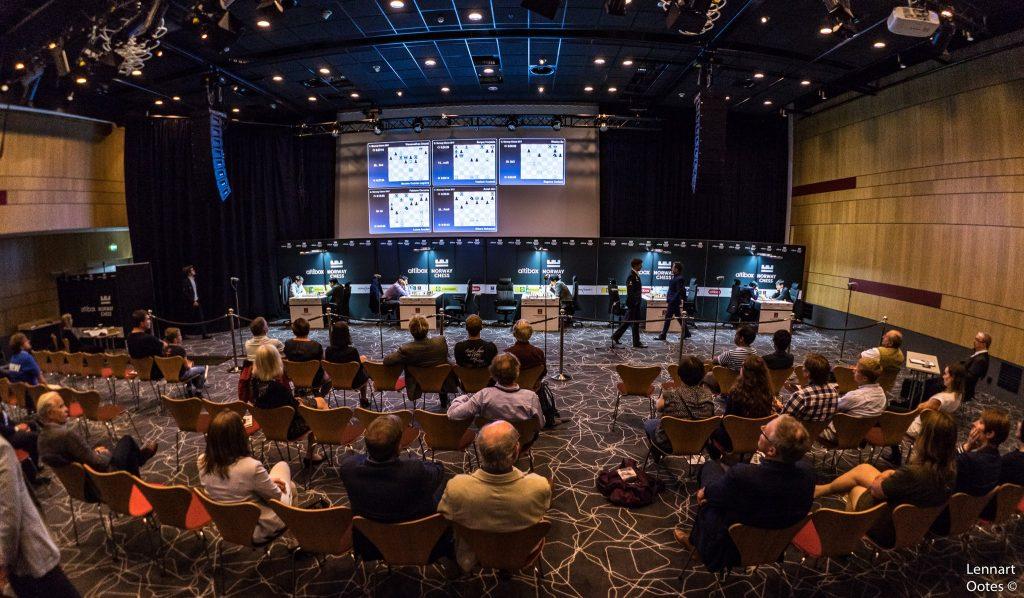 Norway Chess 2017 ronde 1 Salle de jeu vue des spectateurs