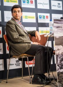 Norway Chess 2017 ronde 2 Viswanathan Anand