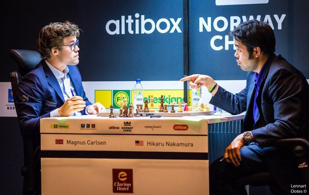 Norway Chess 2017 ronde 3 Magnus Carlsen et Hikaru Nakamura