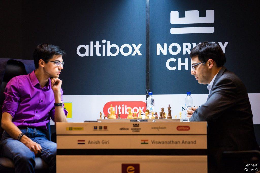 Norway Chess 2017 ronde 4 Anish Giri et Viswanathan Anand