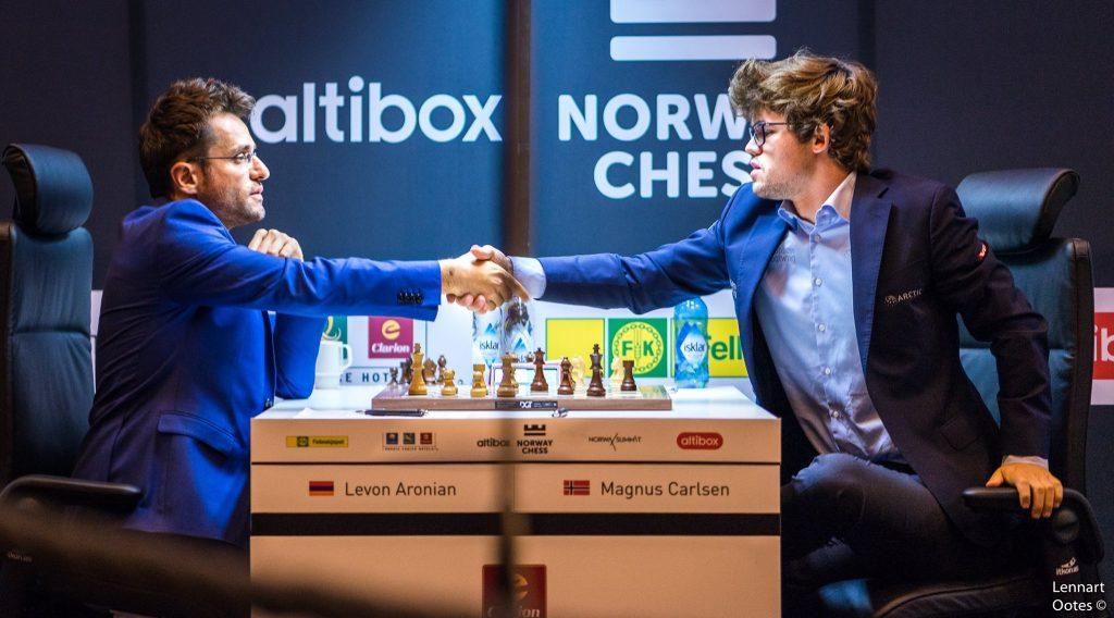 Norway Chess 2017 ronde 4 Levon Aronian et Magnus Carlsen