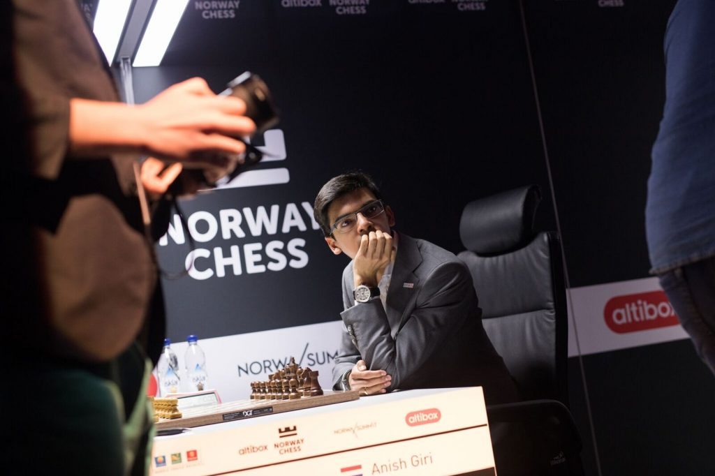 Norway Chess 2017 ronde 7 Anish Giri