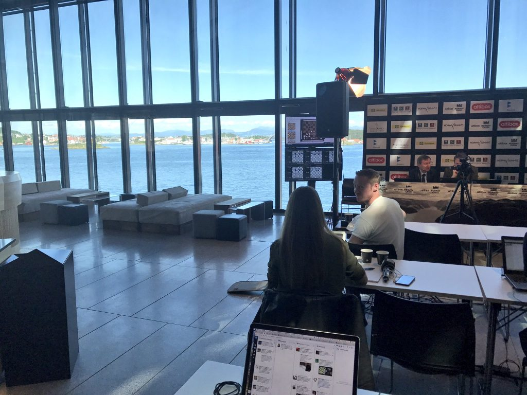 Norway Chess 2017 ronde 7 vue du Concert Hall à Stavanger