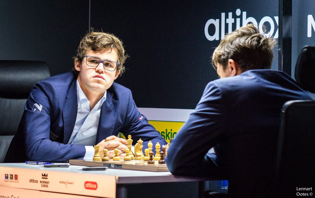Norway Chess 2017 ronde 8 Magnus Carlsen