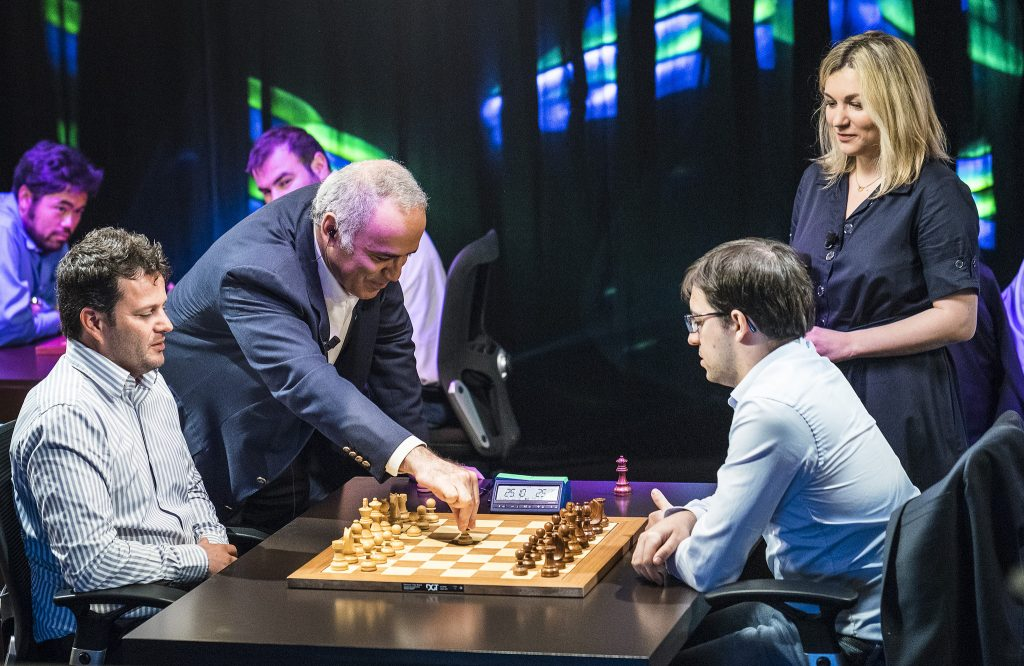 Paris Grand Chess Tour 2017 Garry Kasparov jour 1