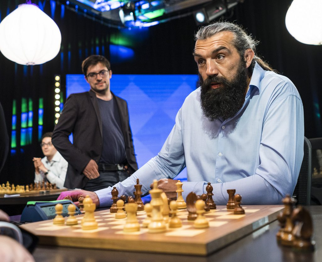 Paris Grand Chess Tour 2017 Sébastien Chabal