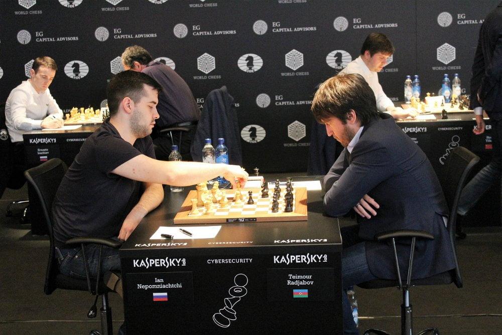 Grand Prix FIDE 2017 Genève ronde 9 Teimour Radjabov et Ian Nepomniachtchi