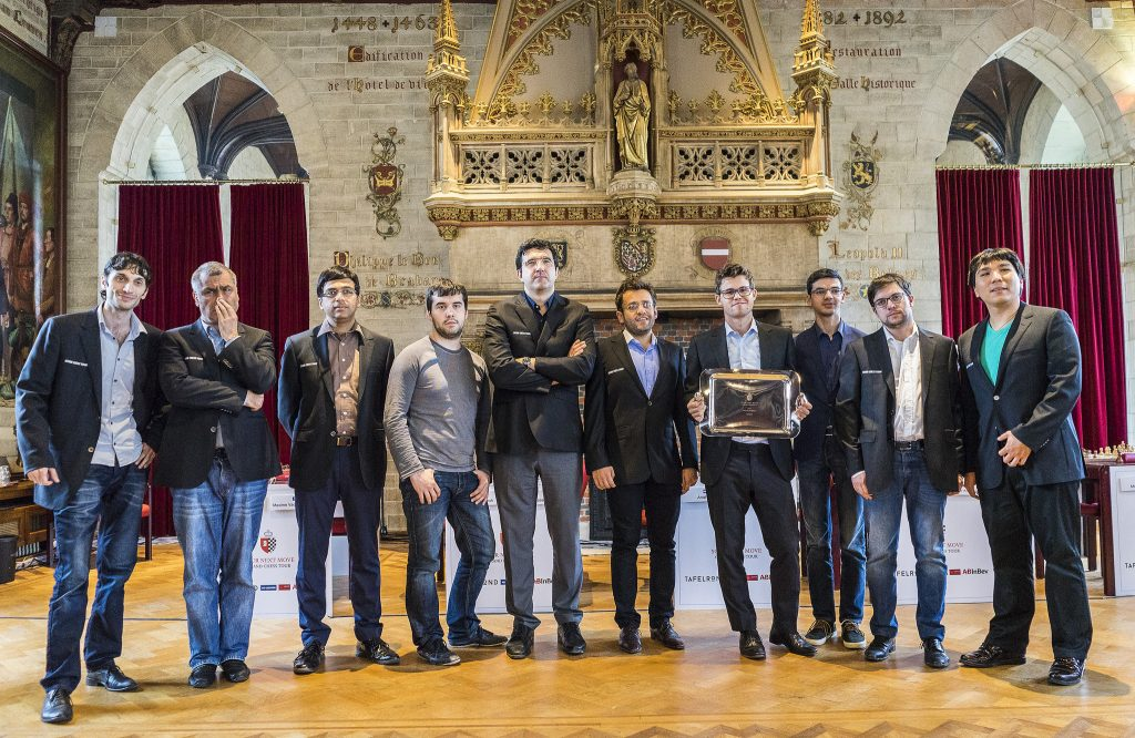 Your Next Move Grand Chess Tour 2017 les participants à la cérémonie de clôture
