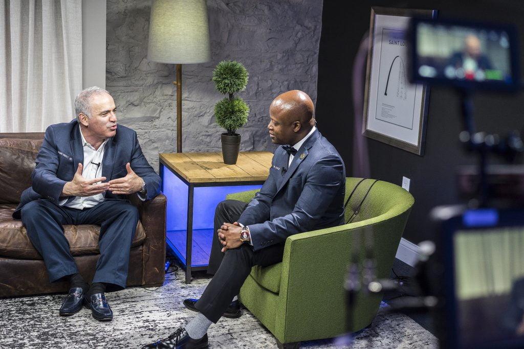 Garry Kasparov interview Saint Louis Rapide Blitz 2017