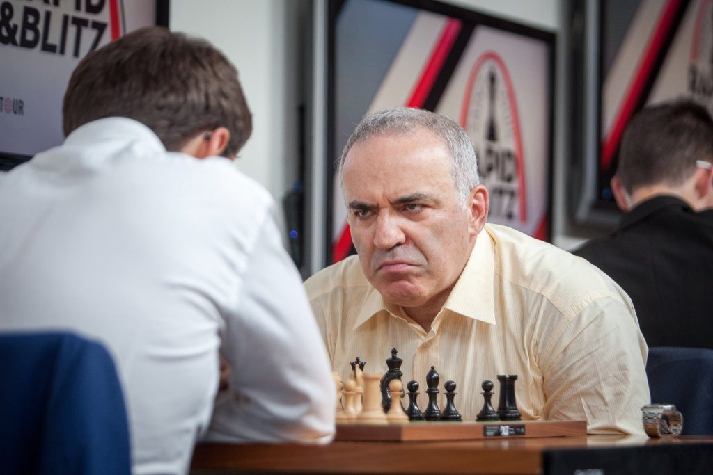 Saint Louis Rapide Blitz 2017 jour 2 Kasparov-Aronian
