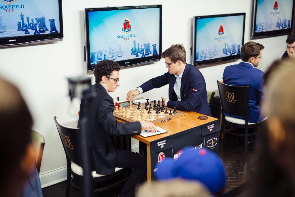 Sinquefield Cup 2017 ronde 1 Caruana-Carlsen