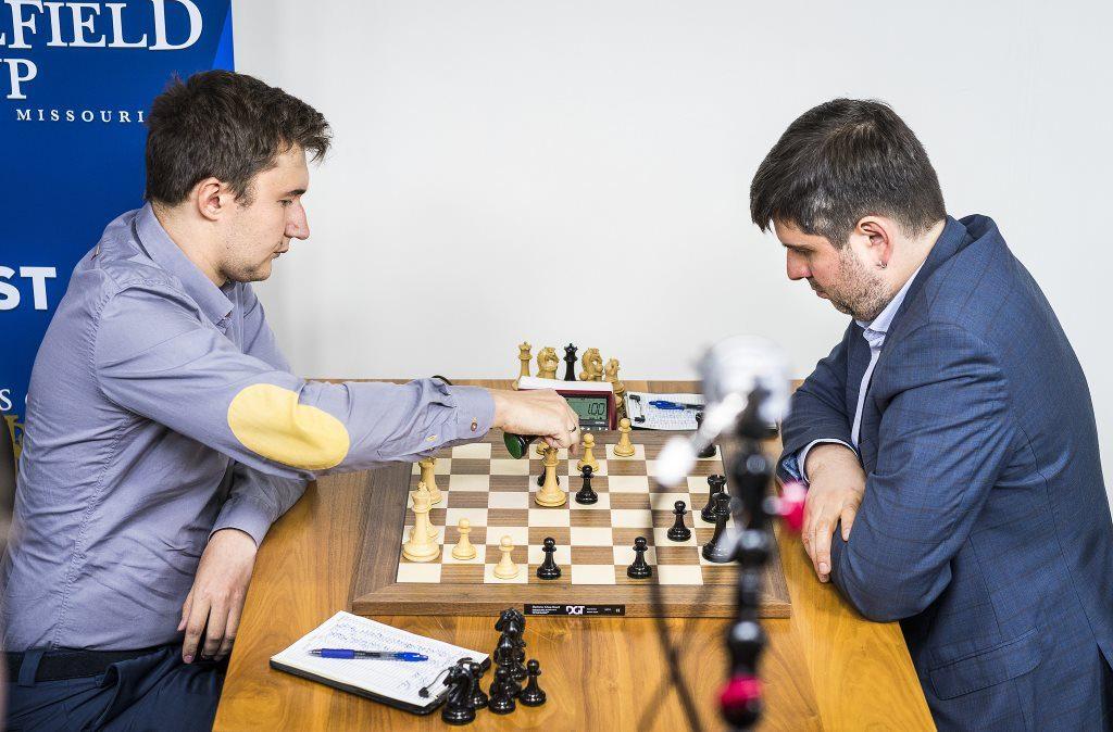 Sinquefield cup 2017 ronde 1 Karjakin-Svidler