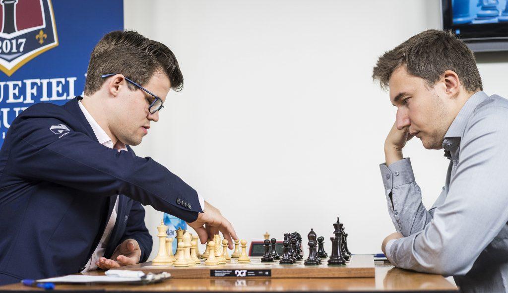 Sinquefield Cup 2017 ronde 2 Carlsen-Karjakin