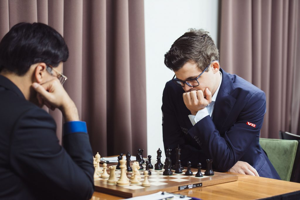 Sinquefield Cup 2017 ronde 3 Anand-Carlsen