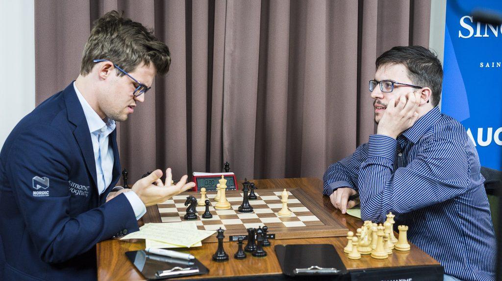 Sinquefield Cup 2017 ronde 4 Carlsen - Vachier-Lagrave
