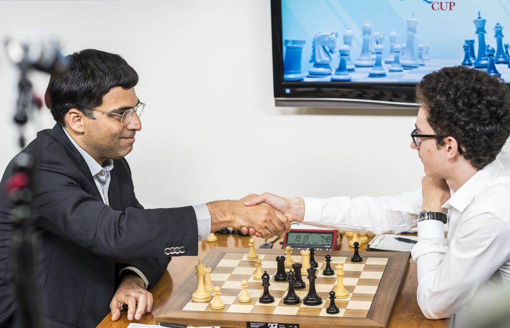 Sinquefield cup 2017 ronde 5 Anand-Caruana