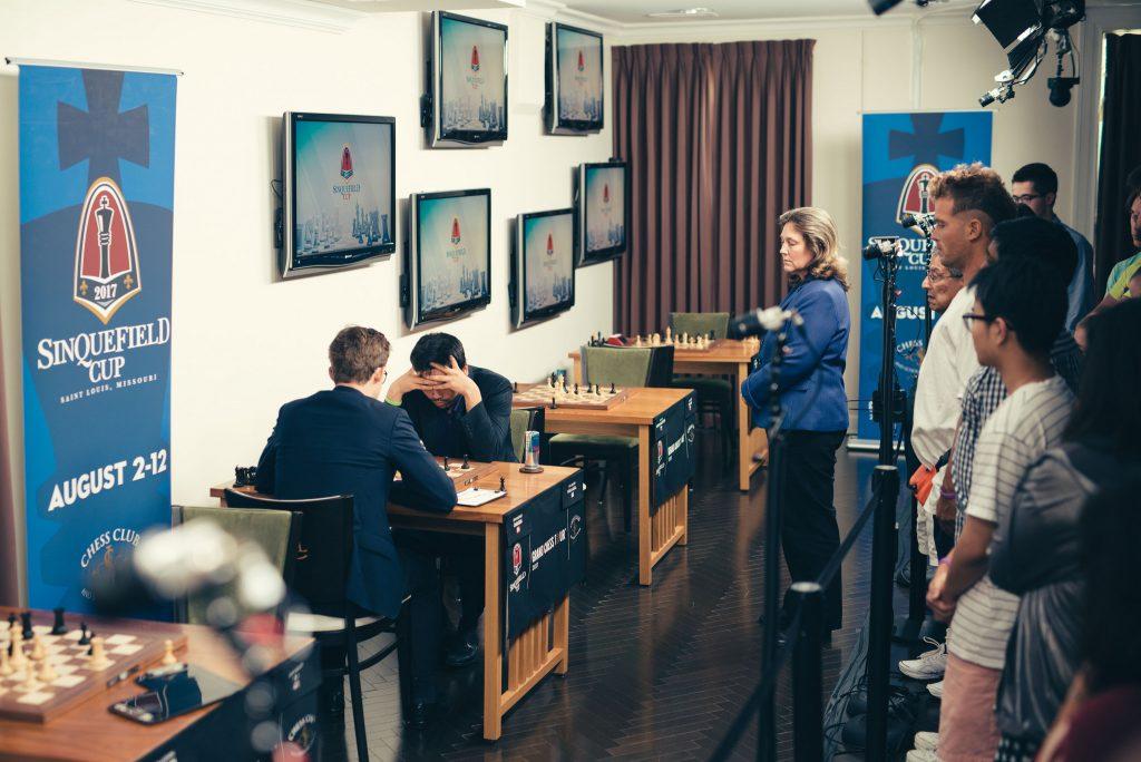 Sinquefield Cup 2017 ronde 6 Carlsen-Nakamura